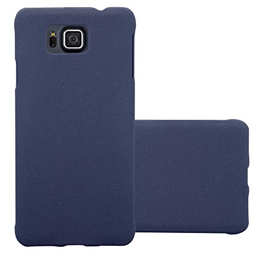 Cadorabo Hülle für Samsung Galaxy Alpha in Frosty BLAU - Hardcase Handyhülle aus Plastik gegen Kratzer und Stöße - Schutzhülle Bumper Ultra Slim Back Case Hard Cover