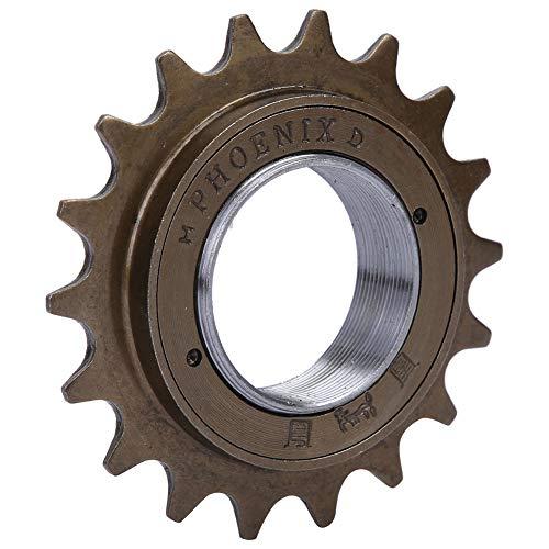Alomejor Bicycle Flywheel Sprockets Parts Bicycle Spoke Chain Wheel Bike Rear Wheel Single Speed Freewheel for Mountain Road Bike