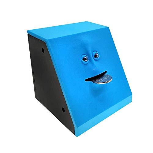 Caja de Color sellada, Hucha, Material elástico Suave, Sensor Facial, Hucha para Comer Dinero, Antideslizante, Duradera, Segura, Juguetes para niños, habitación para niños, Escritor