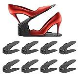 Organizador de Zapatos, Set de 8pcs de Soporte de Calzado Ajustables Soporte de Zapatos Juego de Zapatos para Ahorro de Espacio