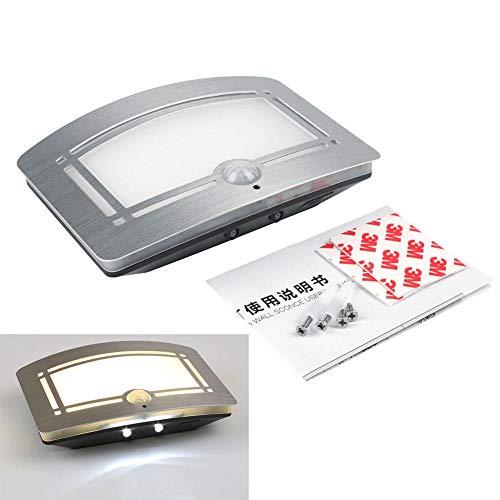 Luz Nocturna Enchufable Cuerpo Sensor De Movimiento Batería Activada Led Lámpara De Pared Luz Balcón Exterior