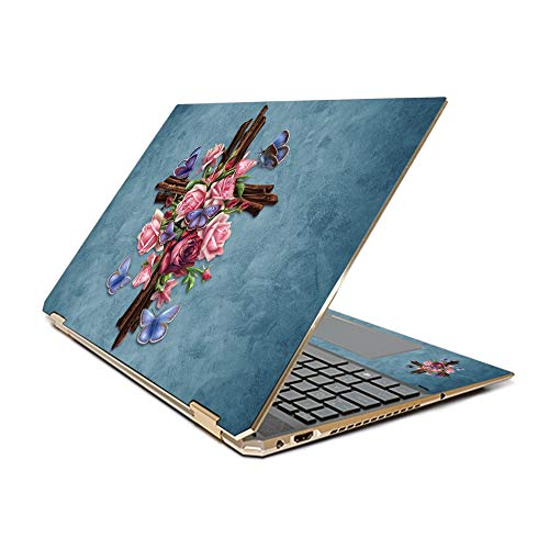 MightySkins Skin Compatible With HP Spectre x360 15.6' Gem-Cut (2019) - Rose Cross | Protective, Durable, and Unique Vinyl Decal wrap cover | Easy To Apply, Remove, and Change Styles | Made in the USA