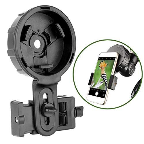 Gosky - Adaptador de teléfono telescópico de alineación rápida para teléfono móvil, monocular, Compatible con Casi Todas Las Marcas de teléfonos Inteligentes (Tipo Grande)
