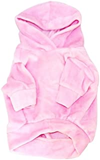 The Dog Squad Velour Pullover Pet Hoodie, Large, Pink