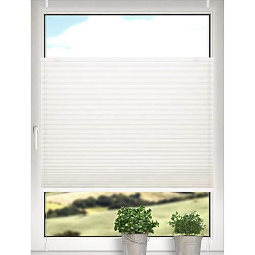DESWIN Sonderanfertigung | Personalisierte Plissee Rollo KlemmFix ohne Bohren Blickdicht Sonnenschutz und SichtschutzEasyFix Jalousie für Fenster & Tür- verspannt 81-90x160-170cm