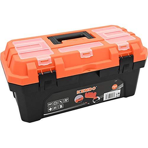 ツールボックス 工具箱 プラスチック 道具箱 ブラック オレンジ バイカラー Mサイズ メカニック 工具入れ