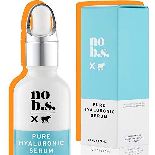 NO B. S. 100% de ácido hialurónico puro suero de belleza. anti aging serum. ultra hidratante serum facial. fórmulas potentes. cuidado de la piel limpia.