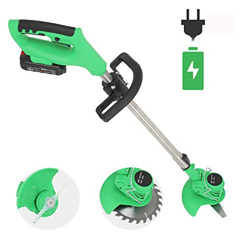 Amazing Deal ZXYSR Cordless String Trimmer, Household Telescopic Lightweight Weed Eater, with Lithiu...