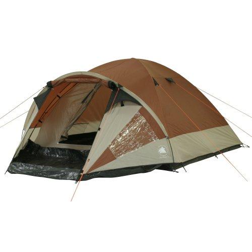 10T tent Colville 4 man koepeltent waterdichte campingtent 3000 mm familietent met voortent.