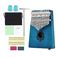 perfk カリンバ アフリカ 指ピアノ フィンガーパーカッション 木製 収納バッグ付き - カラー3
