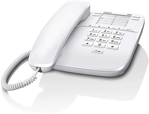 YUBIN Teléfono Teléfono Inicio Retro Teléfono Fijo Vintage Retro Teléfono Simple Personalidad Inicio Oficina Línea Fija (Color: F, Tamaño: B Estilo) (Color : White, Size : A Style)