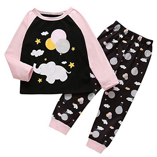 MUMEOMU Babykleidung Set Baby Jungen Mädchen Kleidung Outfit Set Druck Langarm...