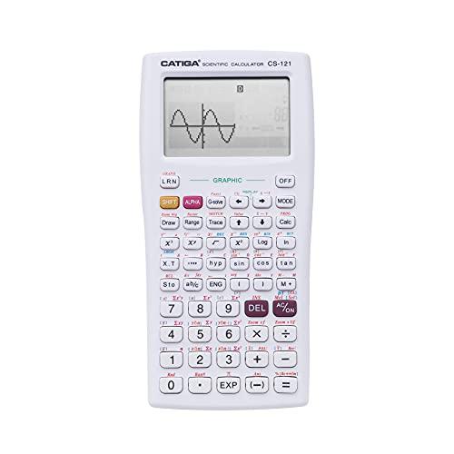 Scientific Graphic Calculator - CATIGA CS121 - Scientific and Engineering Calculator - Programmable System (White)