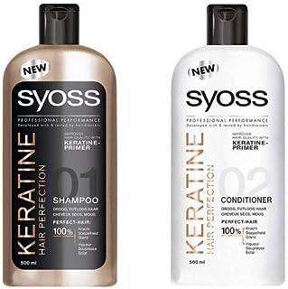 Syoss Keratin Shampoo + Conditioner, 500 ml