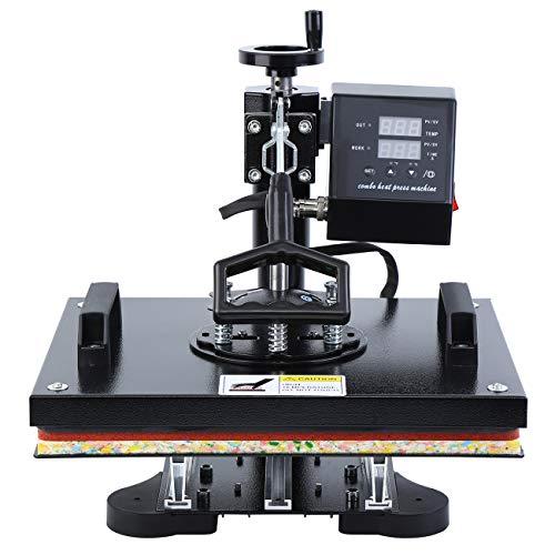 MuGuang 220V Digital Swing Hitze Presse Maschine Sublimation druckmaschine für Textil 38x29cm