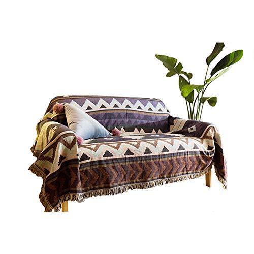 GGYDD Reversible Funda De Sofá,Decorativo Sofá Cubierta B Muebles del Sofá Sofá Silla Manta India Estilo Indio-a 160x300cm(63x118inch)