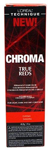 Loreal Chroma True Reds Hair Color - Sangria 1.74 Ounce (51ml) (2 Pack)