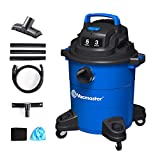 Vacmaster 3 Peak HP 5 Gallon Wet Dry Vacuum Cleaner Lightweight Powerful Suction Shop Vacs with Blower Function for Dog Hair,Garage,Car,Home & Workshop