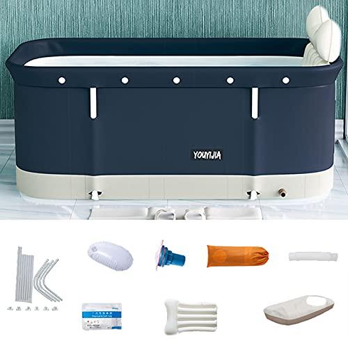 KTNAJOL Portable Bathtub Kit,Foldable Soaking Bathing Tub for Adults,Thickening to Keep Temperature,...