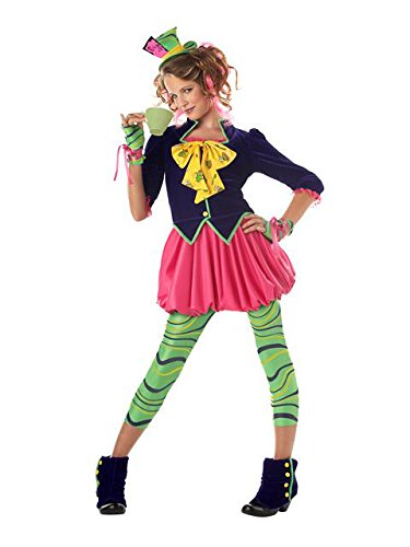 California Costumes Tween The Mad Hatter Costume, Multi, Large