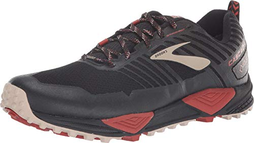 Brooks Cascadia 13 GTX Black/Red/Tan 8