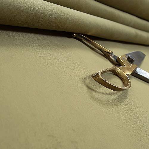 New Furnishing Fabrics Tela de tapicería de Terciopelo tratado con Llama, Ideal para sofás, sillas y Muebles en Color Verde, Terciopelo, Verde, 1 m