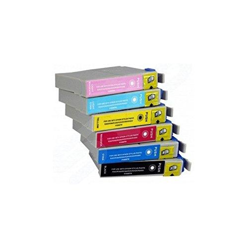 6 Cartucce d'inchiostro compatibili per Epson T0791 T796 1 PER COLORE NO OEM