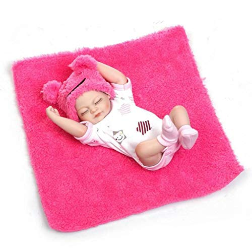"Terabithia Miniatura 10"" Realista Hermoso soñador bebé recién Nacido Kits de Silicona Cuerpo Completo Lavable para niña"