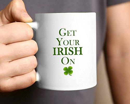 Tazza da caffè Tazza da caffè irlandese Tazza da tè in vetro bianco in ceramica Tazza da tè per il Festival del Ringraziamento di Natale