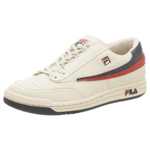 Fila Zapatillas deportivas clásicas Lea para hombre, beige (rojo, azul marino, crema (Cream/Navy-red)), 41 EU