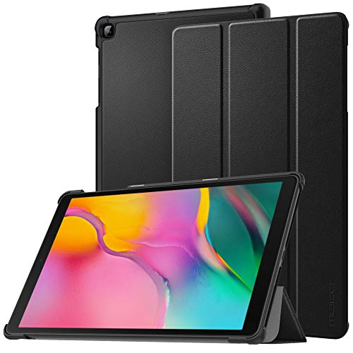 MoKo Case Fit Samsung Galaxy Tab A 10.1 2019 T510 T515 T517,Ultra Lightweight Slim Smart Hard Shell Stand Cover Folio Case for Galaxy Tab A 10.1 inch SM-T510/SM-T515 2019 Tablet - Black