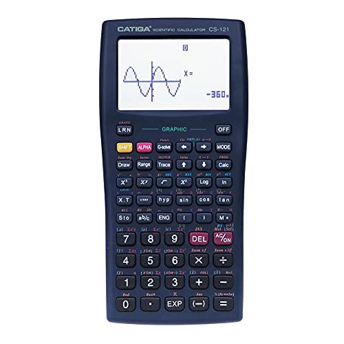 Calculatore Scientifica Con Funzioni Grafiche – Modalità Multipla Con Interfaccia Intuitiva – perfetto per principianti e avanzate, High School o College (Nero 2.0)