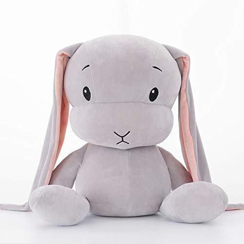 Knuffel, Schattige Konijn Knuffel Zachte Knuffel Speelgoed Lange Oren Bunny Slapen Poppen Voor Kinderen 25cm GRIJS