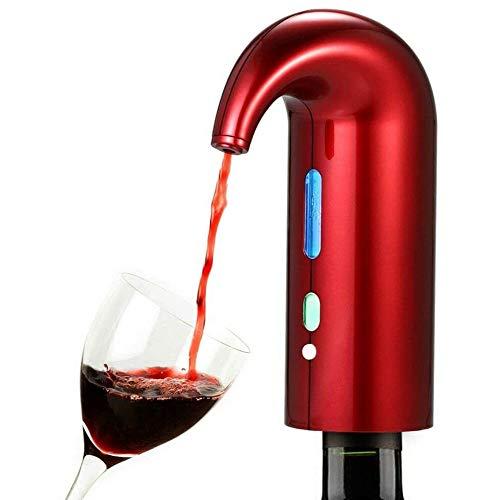 TDOYO Aireador de Vino eléctrico, USB automático, con Varilla Telescópica, Nueva Bomba de Gran Capacidad, Se Puede Utilizar para la Familia, la Fiesta, Portátil y Durable,A
