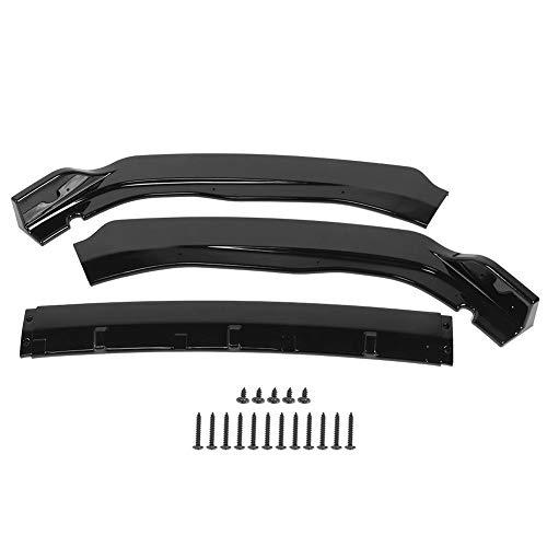 KIMISS Kit de labios de paragolpes delantero, 3 piezas de alerón de labio parachoques delantero modificado para automóvil para Accord 4Dr modelo 2018-2019