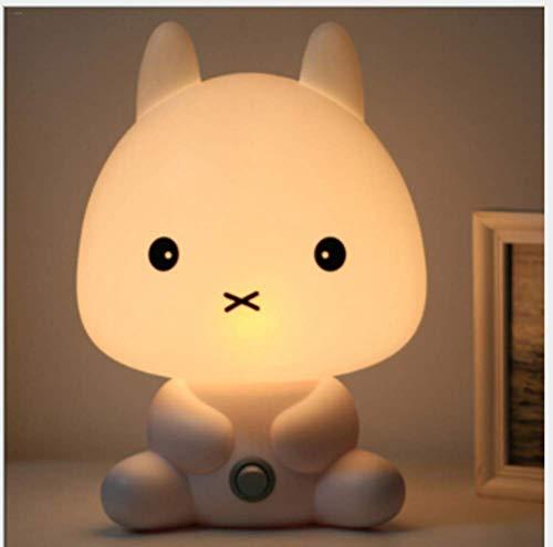 créatif beau dessin animé de lapin forme portable de bureau de lampe de lumière de lampe de Veilleuses Un cadeau pour Halloween