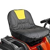 POHOVE Funda de asiento para cortacésped, tela Oxford 600D, impermeable, con bolsillos de almacenamiento para cortadora de césped