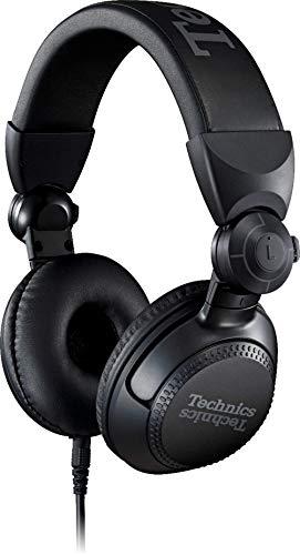 Technics Eah-Dj1200 Cuffie Stereo a Padiglione, Driver da 40 Mm, Braccio Mobile a 270°, Cavo di Bloccaggio Rimovibile, Resistenza, Pieghevoli, Nero, Taglia Unica
