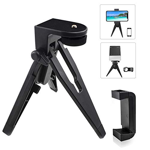 """Mini Phone Tripod Table Stand, vamvo Phone Tripod with Pads and Soft Pistol Grip for DSLR 1/4"""" Cameras Smartphone Projector Weighing up to 2.5lbs"""