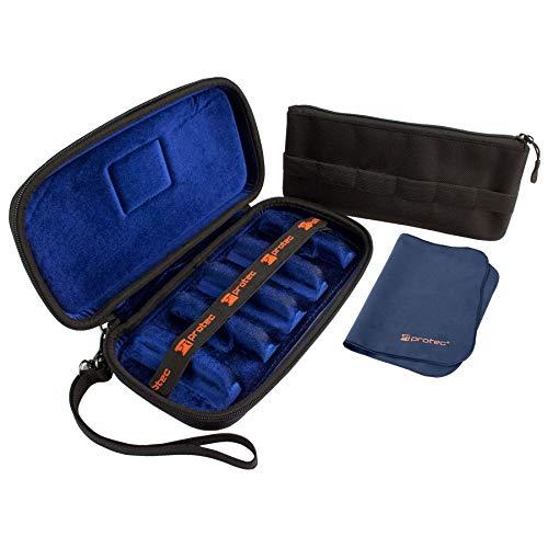 Protec Etui für 6 Mundstücke (Saxophon oder Klarinette) aus Nylon, schwarz - WMC6