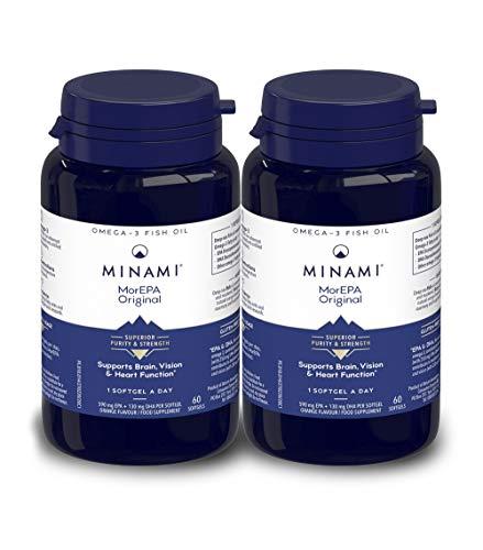 Minami - MorEPA Original - Omega 3 Fish Oil - High EPA and DHA Formula - 590mg EPA & 130mg DHA per Serving - Supports Brain, Vision and Heart Function - 120 Softgels