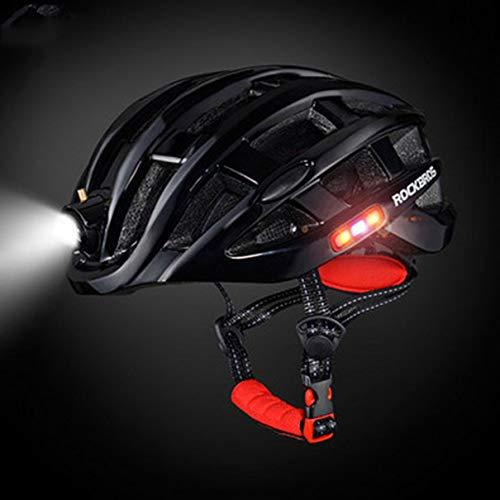 Casco de Deportes al Aire Libre ROCKBROS con luz Casco de Bicicleta...