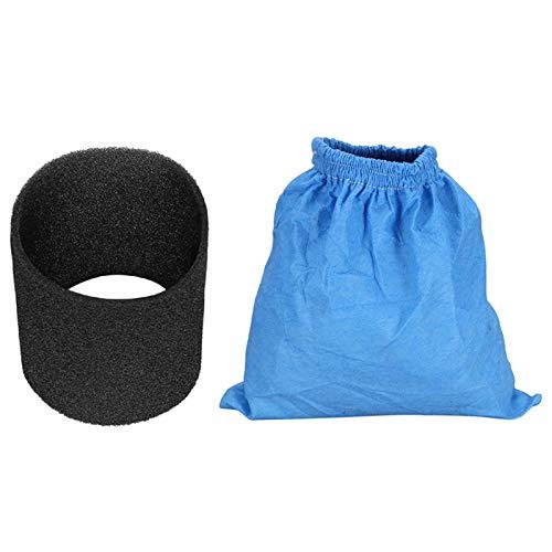 cherrypop Bolsas de filtro textil Filtro de espuma húmedo y seco para Karcher MV1 WD1 WD2 WD3 Partes de aspirador Bolsa de filtro Partes de aspirador