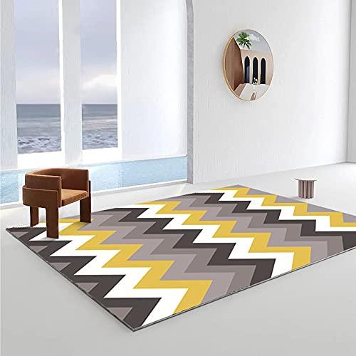 Alfombra Estampada con Arte Moderno Alfombrilla Gruesa Impermeable Y Antideslizante Adecuada para Dormitorio Sala De Estar Alfombra para Ventana Salediza