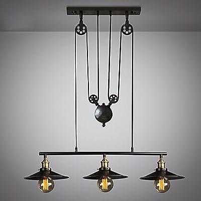 Pendentif plafond vintage lumière rétro poulie suspendu