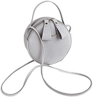 TOOGOO Fashion Pu Leather Lady Crossbody Bag Women Bag Simple Design Messenger Bag Circular Handbag Mobile Phone Bags Black