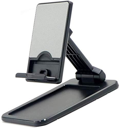 ZHANG Soporte para Teléfono Plegable Soporte para Teléfono Aster Soporte para Teléfono Móvil Plegable para Escritorio Cuna Ajustable En Varios ángulos Y En Altura,Black