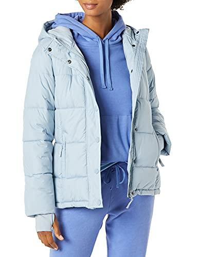 Amazon Essentials Women's Heavy-Weight Hooded Puffer Coat, Dusty Blue, Medium