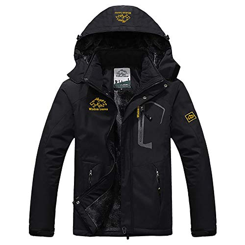 Men's Ski Jacket Warm Winter Coats Windproof Snow Jacket Waterproof Rain Jacket for Hiking Camping Outwear