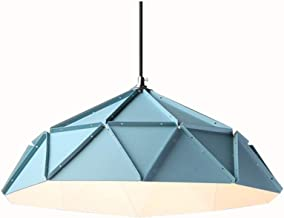 Kitchen Simple Wrought Iron Pendant Light Kitchen Personality Ceiling Light Creative Blue Chandelier Bedroom Living Room L...